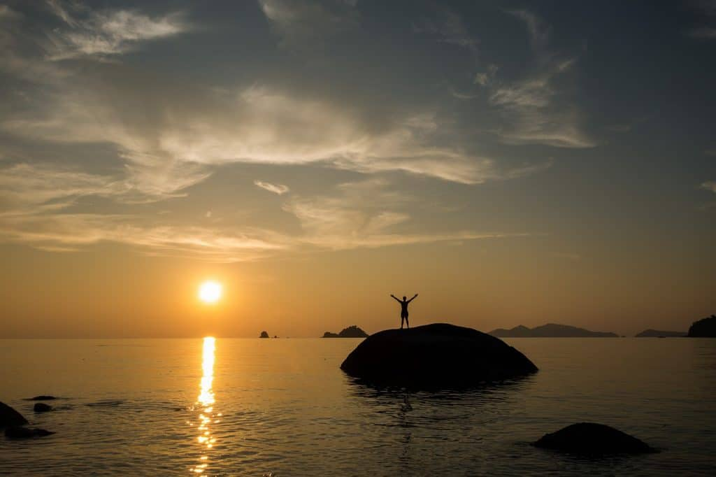 Sunset on beautiful islands