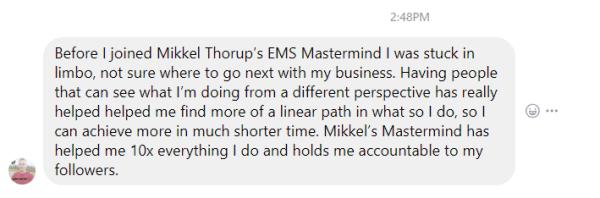 Daniel Mac Sweeney Testimonial for EMS Titanium