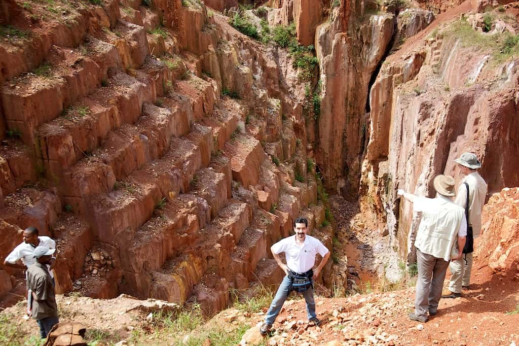 Lobo Tiggre in front of the Reverse Ziggurat in Africa