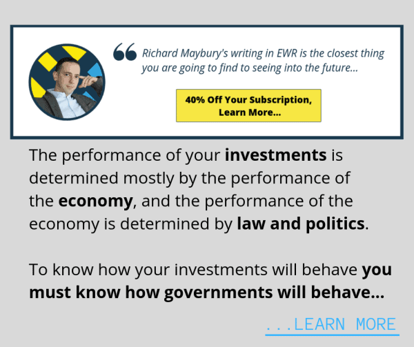 The performance of your investments is determined mostly by the performance of the economy, and the performance of the economy is determined by law and politics.