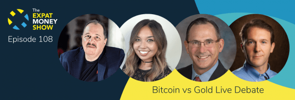 Mikkel Thorup hosts a live debate on Bitcoin vs Gold in Las Vegas on The Expat Money Show