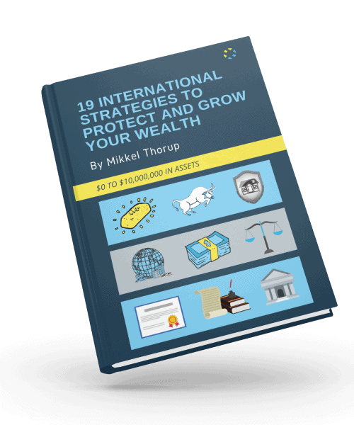 3D Cover Design- 19 International Strategies To Protect And Grow Your Wealth By Mikkel Thorup